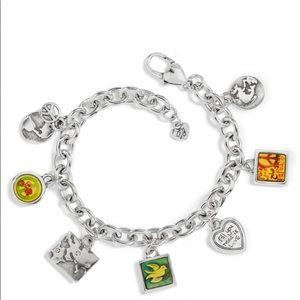 "Brighton ""Peace Charming"" Silver Charm Bracelet"